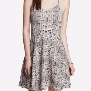 Express Snake Print Halter Mini Dress 0